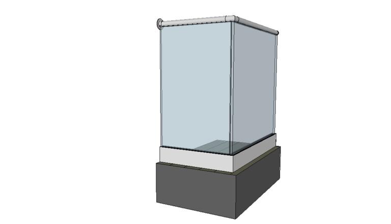 Stolpefritt glassrekkverk toppmontert fra Basix - aluminiums bunnprofil