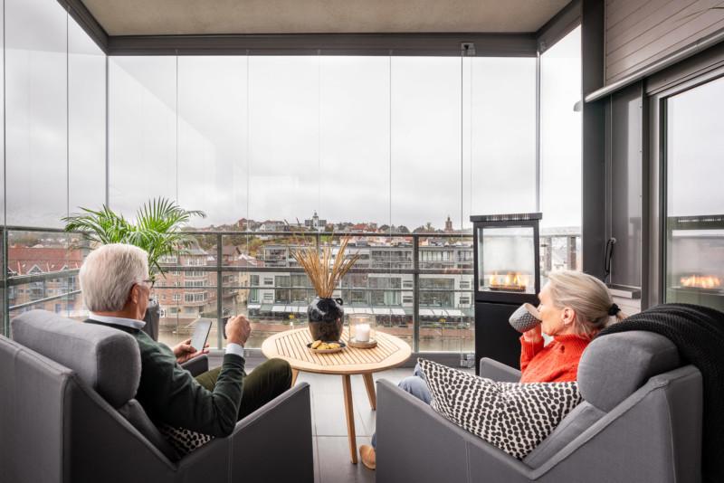Hyggelige stunder på terrassen