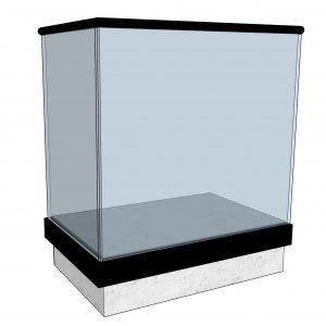 Svart glassrekkverk sidemontert med svart håndløper - sett fra utsiden