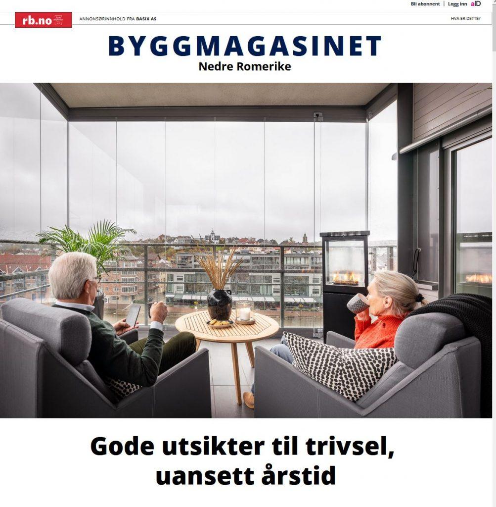 Annonseartikkel i Byggmagasinet Nedre Romerike våren 2021